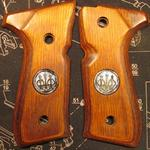 92 cocobolo, rounded, silver medallions