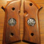 92 Steel-I, cocobolo, silver medallions.