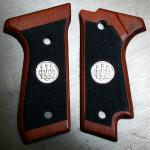 92S, cocobolo, black texture, single safety cut